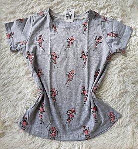 T-shirt  feminino no atacado  penelope charmosa cinza