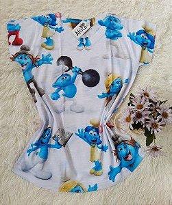 Blusa Feminina no Atacado Smurfs