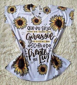 T shirt Feminina no Atacado Girassol