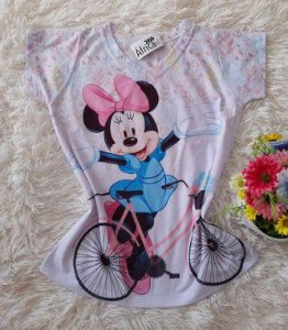 T-Shirt no Atacado Minnie Bike