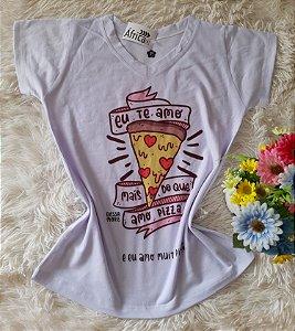 Tee Feminina no Atacado Pizza