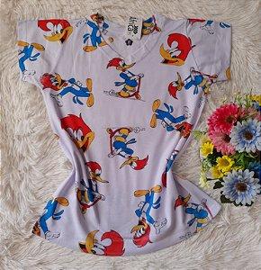 T-Shirt Feminina no Atacado Pica Pau