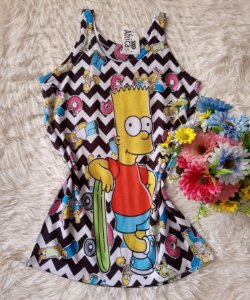 Regata Feminina no Atacado Bart Simpson