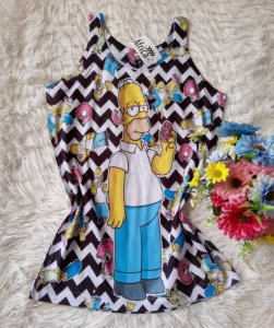 Regata Feminina no Atacado Homer Simpson