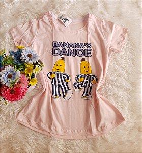 T-Shirt Feminina no Atacado Banana Dance Salmon