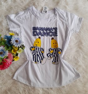 T-Shirt Feminina no Atacado Banana Dance