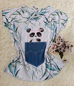 Blusa Feminina no Atacado Panda no Bolso