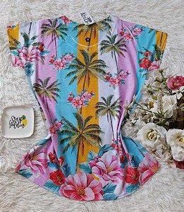 T-Shirt Feminina no Atacado Coqueiros e Flores