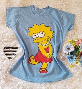 T-Shirt Feminina Lisa Fundo Azul