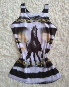 Regata Feminina no Atacado Cavalo