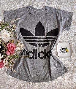 T-Shirt Fminina No Atacado Adidas Cinza