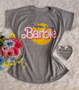 T-Shirt Feminina No Atacado Barbie Cinza