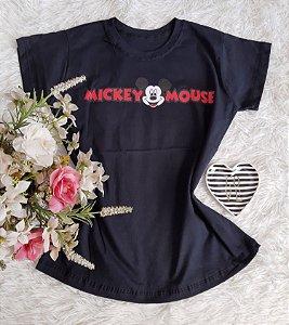 T-Shirt Fminina No Atacado Mickey Mouse  Preto