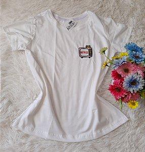 T-Shirt Feminina No Atacado Netflix Branco