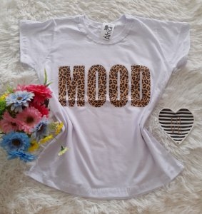T-Shirt Feminina No Atacado Mood Fundo Branco