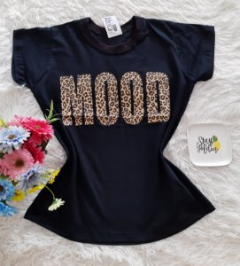 T-Shirt Feminina No Atacado Mood Fundo Preto