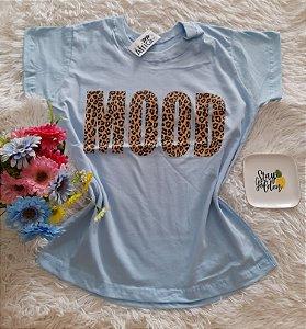 T-Shirt Feminina No Atacado Mood Fundo Azul