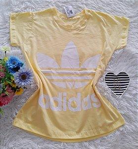 T-Shirt Feminina No Atacado Adidas Fundo Amarelo