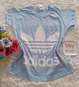 T-Shirt Feminina No Atacado Adidas Fundo Azul