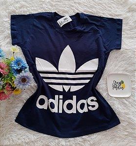 T-Shirt Feminina No Atacado Adidas Fundo Marinho