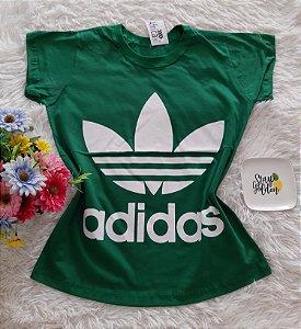 T-Shirt Feminina No Atacado Adidas Fundo Verde