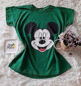 T-Shirt Atacado Mickey Rosto Bandeira