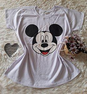T-Shirt Atacado Mickey Rosto Branco
