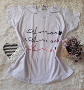 Camiseta no Atacado Amor Branca