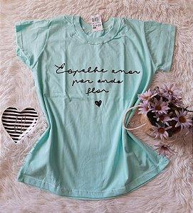 Camiseta no Atacado Espalhe Amor Verde