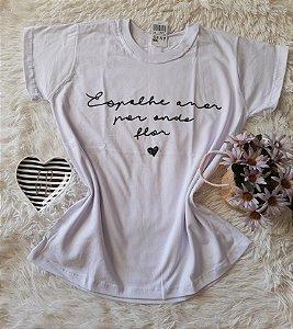 Camiseta no Atacado Espalhe Amor Branca