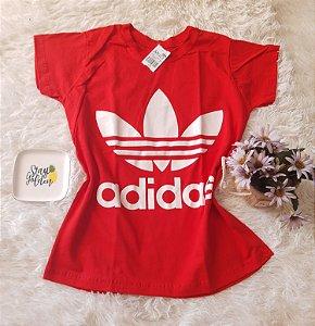 Camiseta no Atacado Adidas Vermelha