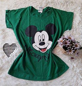 Camiseta no Atacado Mickey Rosto Verde