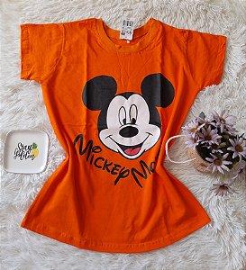 Camiseta no Atacado Mickey Rosto Laranja