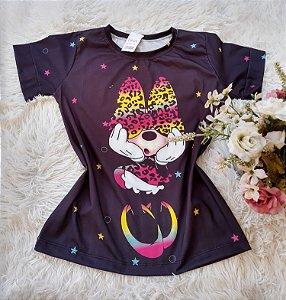 T-Shirt Feminina Minnie Colorida