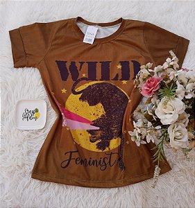 T-Shirt Feminina Pantera Wild