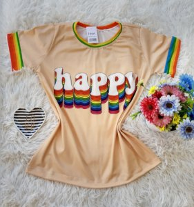 T-Shirt Feminina Happy