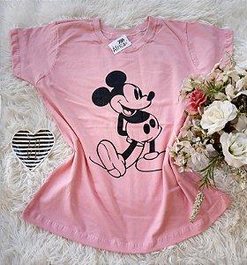 T-Shirt Feminina Mickey Grande Rosa