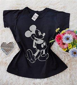 T-Shirt Feminina Mickey Grande Preto