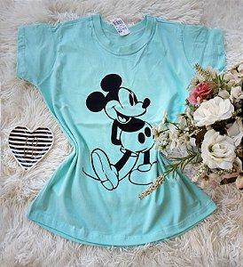 T-Shirt Feminina Mickey Grande Verde
