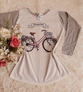 Blusa Manga Longa Bike Cinza