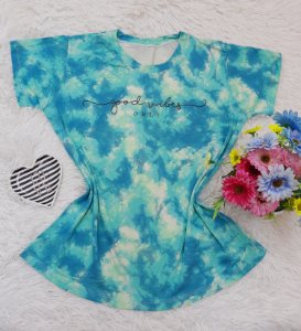 T-Shirt no Atacado Good Vibes Tie Dye