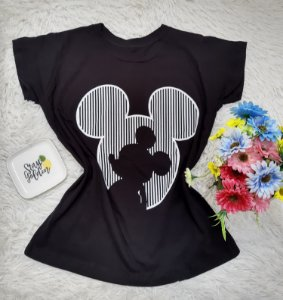 T Shirt no Atacado  Fundo Mickey Preta