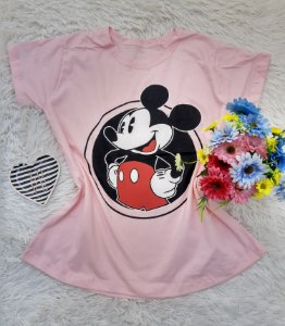 T Shirt no Atacado Mickey Rosa