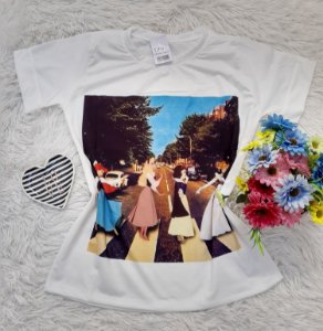 T-Shirt No Atacado Princesas Beatles