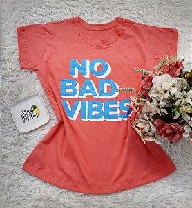 Camiseta  No Atacado No Bad Vibes Coral