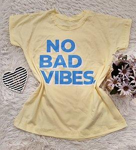 Camiseta  No Atacado No Bad Vibes Amarelo