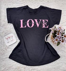 Camiseta  No Atacado Love Preto