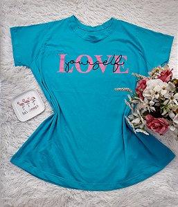 Camiseta  No Atacado Love  Azul