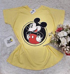 Tee No Atacado Mickey Fundo Amarelo 1