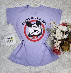 Tee No Atacado Mickey Circulo Lilás